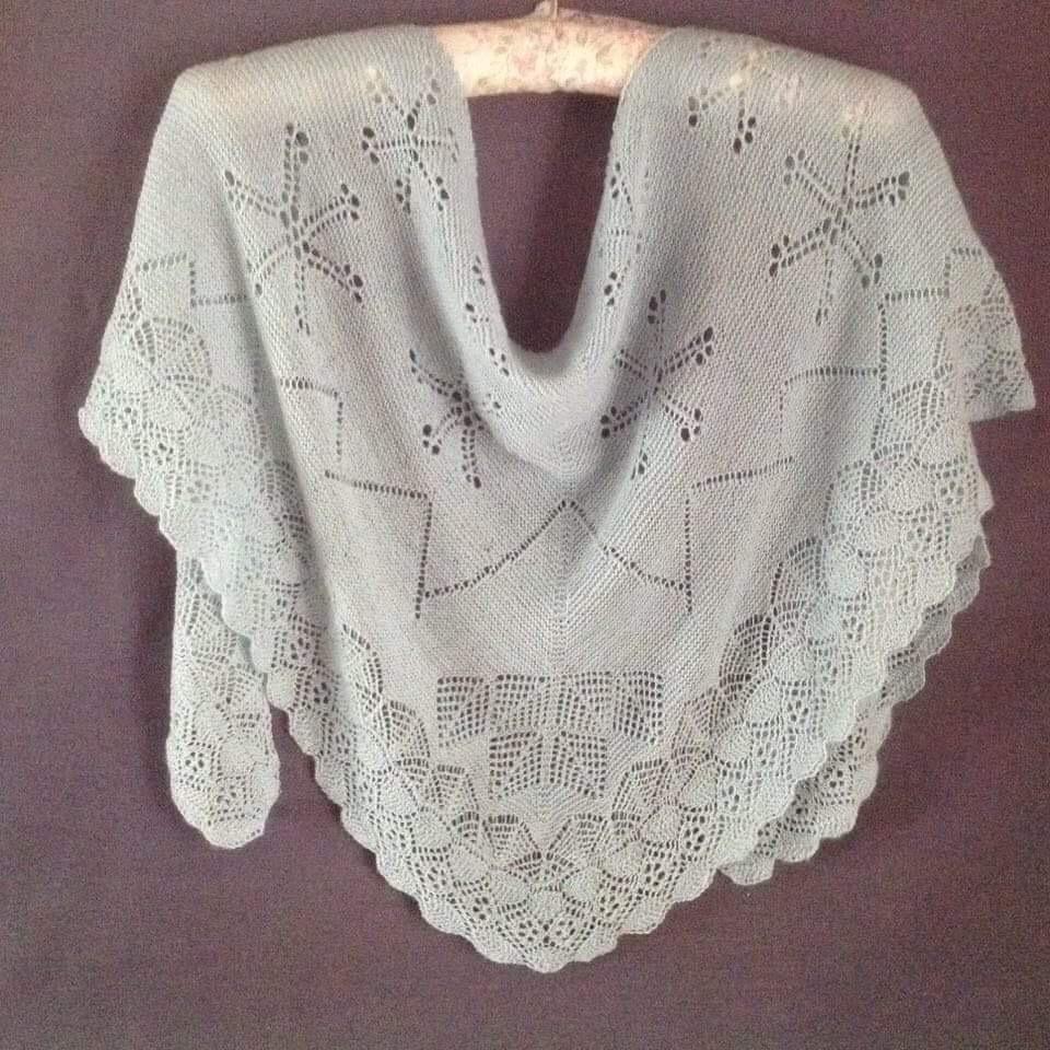 Leo shawl on hanger
